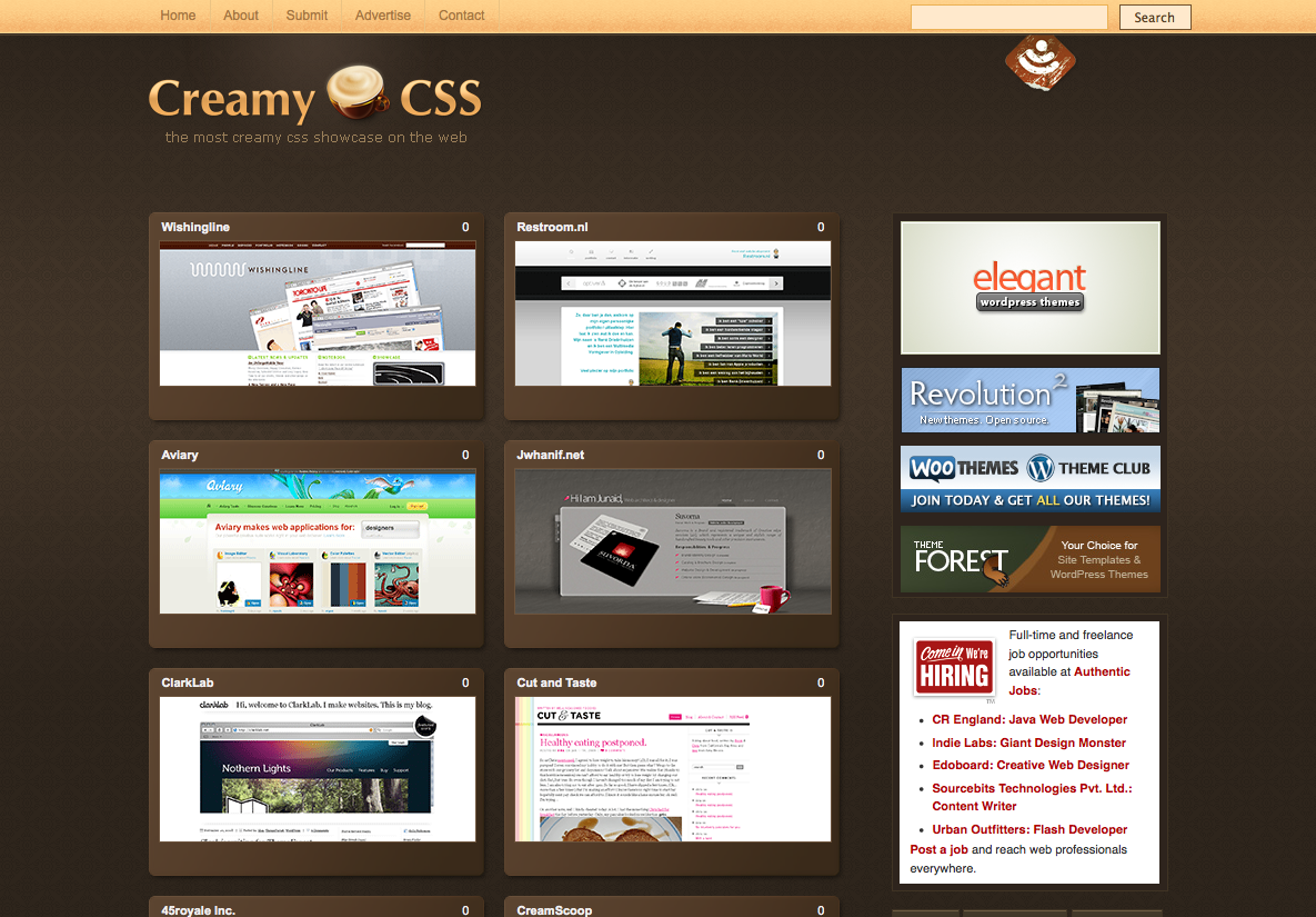Creamy css An website
