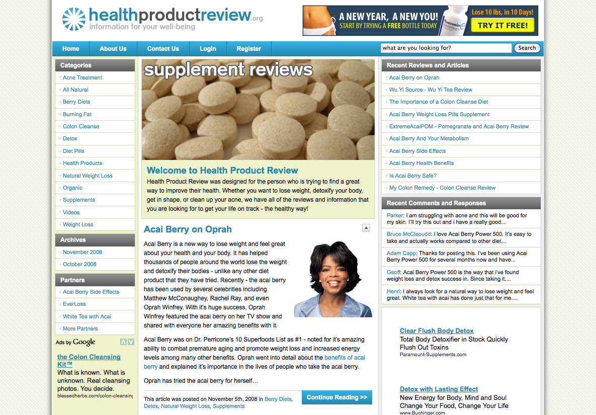 Health Product Review