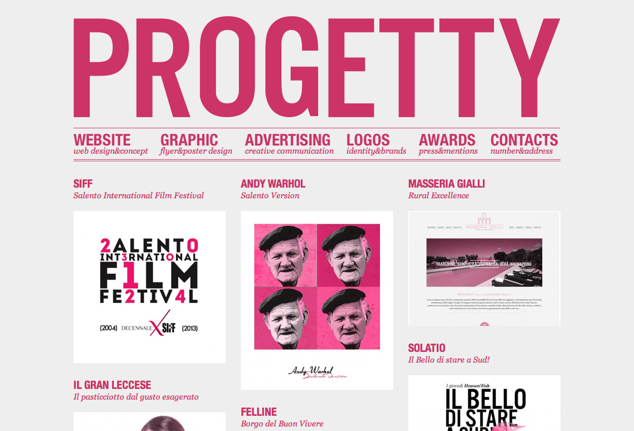 Progetty creative design portfolio
