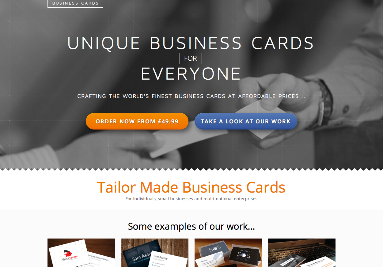 Tailor Made Business Cards