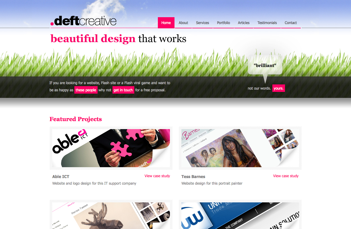 Deft Creative Website Design